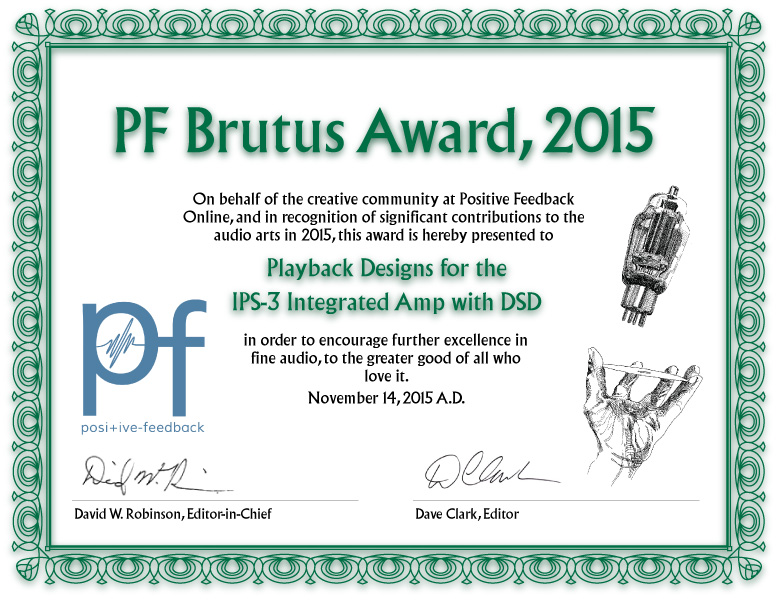 Brutus Award 2015 for the IPS-3